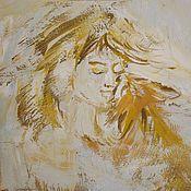 """Картины ручной работы. Ярмарка Мастеров - ручная работа Авторская картина """"Нежность"""". Handmade."""