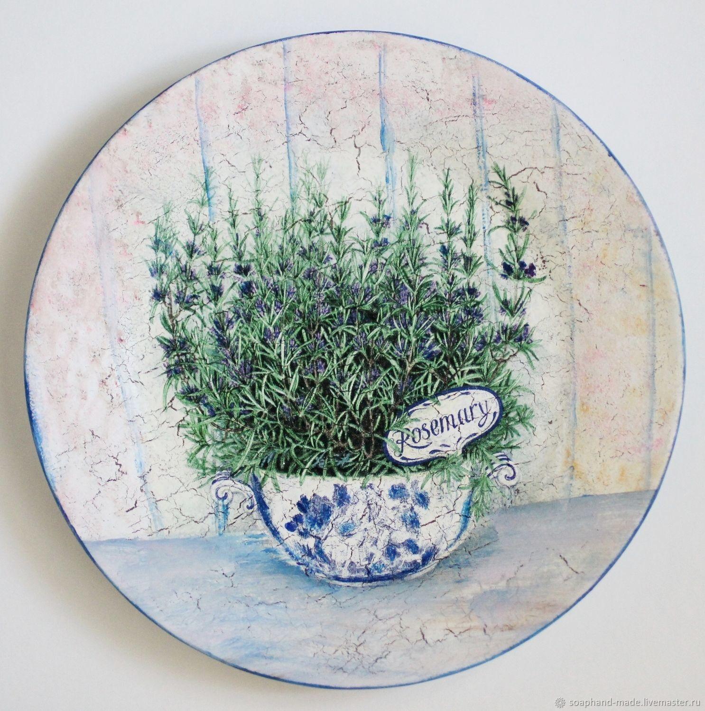 'Rosmarino' decorative plate, Plates, Moscow,  Фото №1