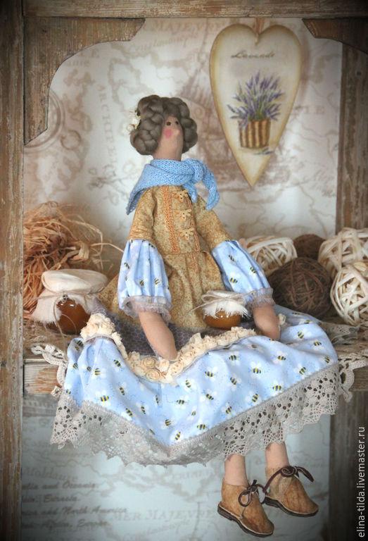 """Куклы Тильды ручной работы. Ярмарка Мастеров - ручная работа. Купить Тильда фея """"Время меда"""". Handmade. Бежевый"""