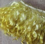 Материалы для творчества handmade. Livemaster - original item Mohair tress (yellow, lemon, Golden) (for dolls). Handmade.
