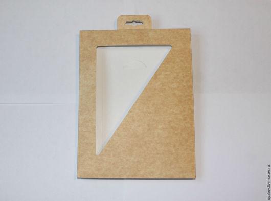 Упаковка ручной работы. Ярмарка Мастеров - ручная работа. Купить Картонная коробка с еврослотом. Handmade. Бежевый, крафт-конверт