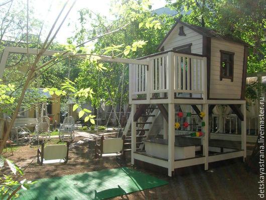 "Детская ручной работы. Ярмарка Мастеров - ручная работа. Купить Детский игровой домик  + игровая площадка ""Детская игра"". Handmade."