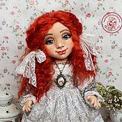 Кукла текстильная. Анастасия кукла интерьерная с объемным личиком