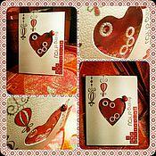 """Открытки ручной работы. Ярмарка Мастеров - ручная работа """"Валентин-ка"""" открытка любимым. Handmade."""