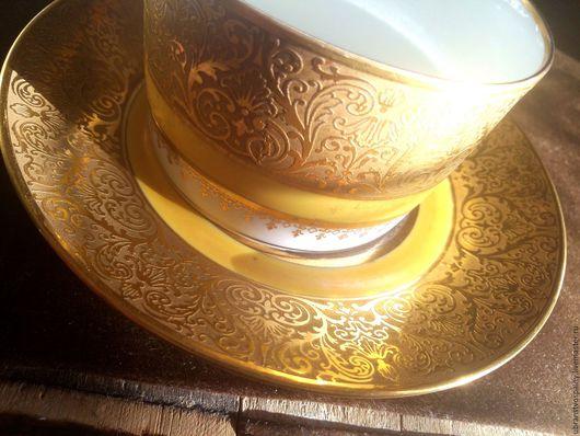 Винтажная посуда. Ярмарка Мастеров - ручная работа. Купить Limoges. Andre Francois.Антикварная чайная пара.. Handmade. Золотой, подарок