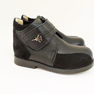Обувь ручной работы. Ярмарка Мастеров - ручная работа Ботинки из натуральной кожи для мальчика с профилактическим эффектом. Handmade.