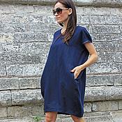 Одежда ручной работы. Ярмарка Мастеров - ручная работа Платье Blue Sphere. Handmade.