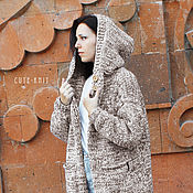 Одежда handmade. Livemaster - original item Women`s knitted coat with hood. Handmade.