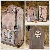 Канцелярские товары handmade. Livemaster - original item Perpetual calendar Paris-Paris. Handmade.
