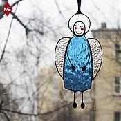 """Подарки к праздникам ручной работы. Ярмарка Мастеров - ручная работа интерьерная подвеска """"голубой ангел"""". Handmade."""