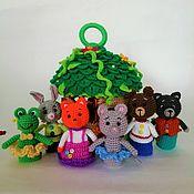 Куклы и игрушки handmade. Livemaster - original item Finger theater Teremok with a house Toy house. Handmade.