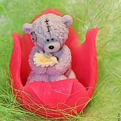 Мыло ручной работы. Ярмарка Мастеров - ручная работа Тедди в тюльпане. Handmade.