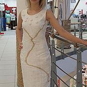 """Одежда ручной работы. Ярмарка Мастеров - ручная работа валяное платье """"экко стиль"""".. Handmade."""