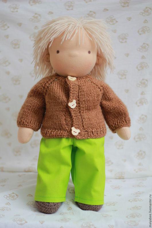 Вальдорфская игрушка ручной работы. Ярмарка Мастеров - ручная работа. Купить Вальдорфская кукла - мальчик Андрейка, 40 - 42 см. Handmade.