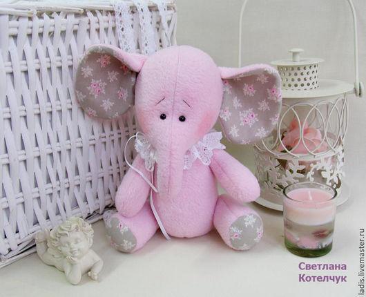 Игрушки животные, ручной работы. Ярмарка Мастеров - ручная работа. Купить Розовый слоник. Handmade. Розовый, Розовый слон, слоники