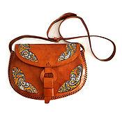 Винтаж ручной работы. Ярмарка Мастеров - ручная работа Винтажная сумка из натуральной кожи в стиле бохо ,Италия. Handmade.