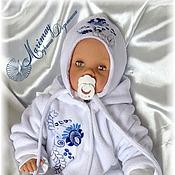 """Работы для детей, ручной работы. Ярмарка Мастеров - ручная работа Комплект одежды для новорождённого """"Гжелечка"""". Handmade."""