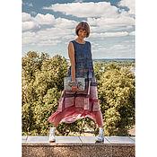 Платья ручной работы. Ярмарка Мастеров - ручная работа Валяное платье City Style in Coral. Handmade.