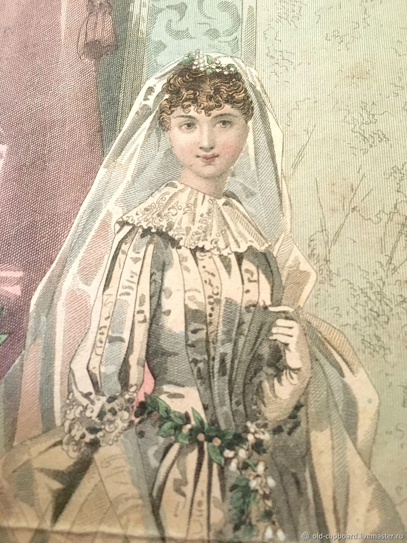 Винтаж: Старинная французская литография. 1885 г, Книги винтажные, Москва,  Фото №1