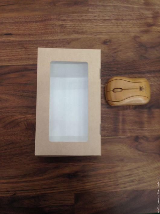 Крафт коробочка с окошком.Отк вверх.