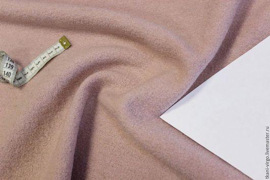 Шитье ручной работы. Ярмарка Мастеров - ручная работа. Купить Пальтово-костюмный лоден с кашемиром 10%(шерсть 100%) светло-розовый. Handmade.