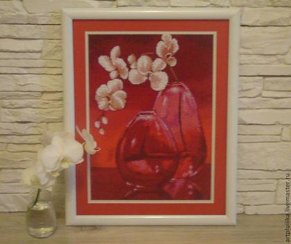 Картины цветов ручной работы. Ярмарка Мастеров - ручная работа Орхидеи в вазе. Handmade.