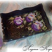 Для дома и интерьера ручной работы. Ярмарка Мастеров - ручная работа Поднос Тагильские розы средний. Handmade.