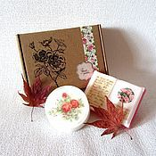 """Косметика ручной работы. Ярмарка Мастеров - ручная работа Набор мыла """"Осень"""", подарки на день учителя, подарки на 8 марта, цветы. Handmade."""