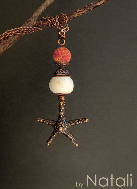 """Кулоны, подвески ручной работы. Ярмарка Мастеров - ручная работа. Купить Подвеска """"Коралловый риф""""  - натур. кораллы двух видов. Handmade."""