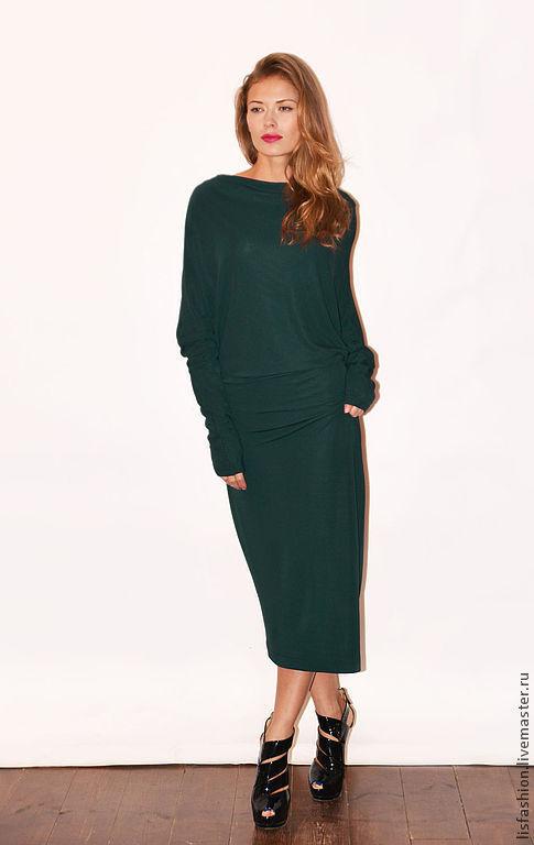 Платья ручной работы. Ярмарка Мастеров - ручная работа. Купить Платье Мелиса 4180654. Handmade. Тёмно-зелёный, платье вечернее