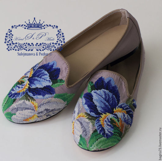"""Обувь ручной работы. Ярмарка Мастеров - ручная работа. Купить """"Ирисы"""". Handmade. Разноцветный, обувь на заказ, для офиса"""