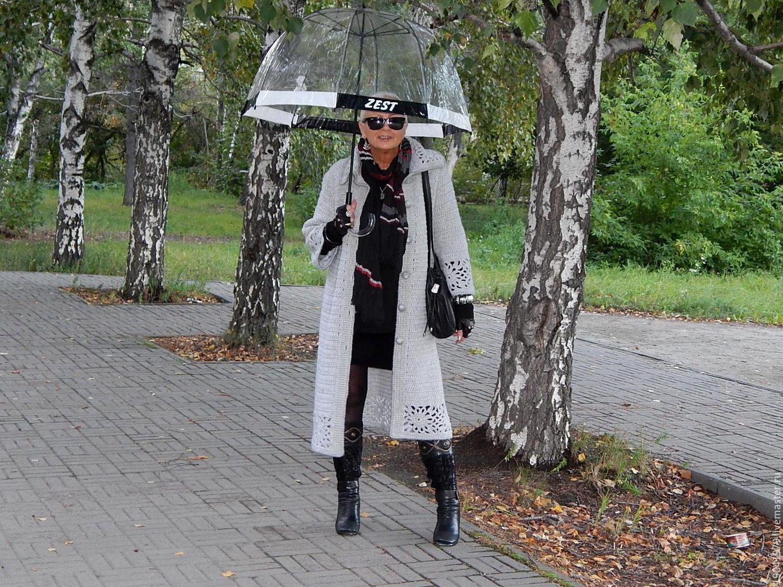 """МЕЖСЕЗОННОЕ ПАЛЬТО """"МАГИЯ СЕРОГО"""". КРЮЧОК, Пальто, Челябинск,  Фото №1"""