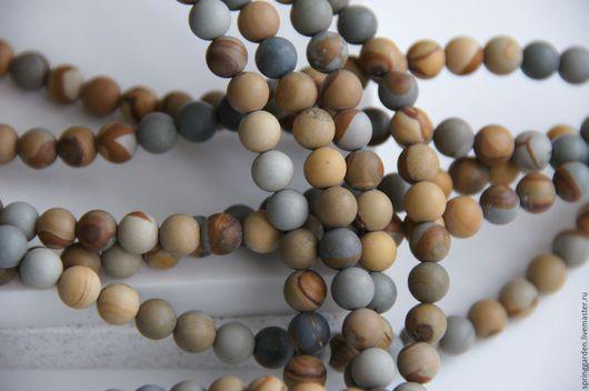 Для украшений ручной работы. Ярмарка Мастеров - ручная работа. Купить Яшма бусины  ПУТЕШЕСТВИЕ матовый шар 6 мм. Handmade.