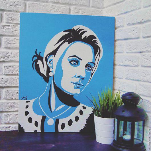 Люди, ручной работы. Ярмарка Мастеров - ручная работа. Купить Арт-портрет. Handmade. Портрет по фото, комбинированный, холст на подрамнике