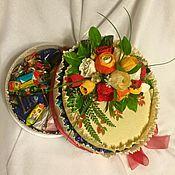 """Подарки к праздникам ручной работы. Ярмарка Мастеров - ручная работа Конфетные """"Торты"""". Handmade."""