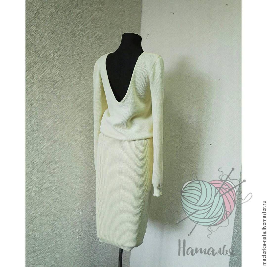 d2c3bc932e5 Платья ручной работы. Ярмарка Мастеров - ручная работа. Купить Мериносовое  связанное платье с открытой ...