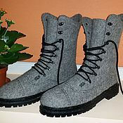 Обувь ручной работы handmade. Livemaster - original item Dried the boots, with soles and laces. Handmade.