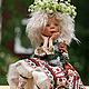 Коллекционные куклы ручной работы. Девочка-осень. Евстифеева Татьяна. Ярмарка Мастеров. Авторская работа, кожа натуральная