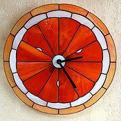 """Для дома и интерьера ручной работы. Ярмарка Мастеров - ручная работа Часы """"Мандарин""""   тиффани. Handmade."""