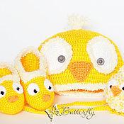 Работы для детей, ручной работы. Ярмарка Мастеров - ручная работа Комплект для новорожденных Цыпленок. Handmade.