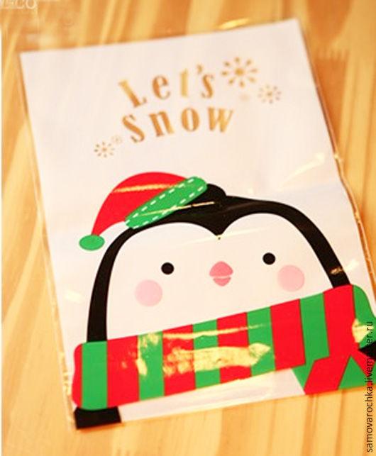 """Упаковка ручной работы. Ярмарка Мастеров - ручная работа. Купить Пакет """"Пингвин"""",12х19 см. Handmade. Пакет, упаковка, полиэтилен"""