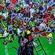 Фантазийные сюжеты ручной работы. Дуб Желаний Картина на стекле. Юлия-Yulitaya. Ярмарка Мастеров. Дерево, исполнение желаний, красота