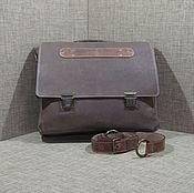 Сумки и аксессуары handmade. Livemaster - original item Portfolio: Men`s leather messenger bag JUPITER. Handmade.