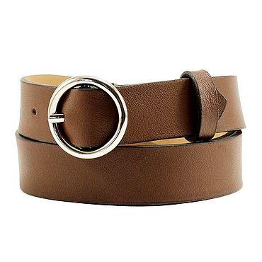 Accessories handmade. Livemaster - original item Copy of Copy of Copy of Copy of Copy of Black leather belt. Handmade.