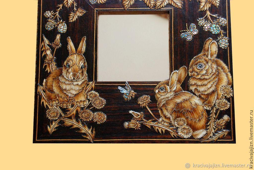 """Зеркало """"Крольчата"""""""