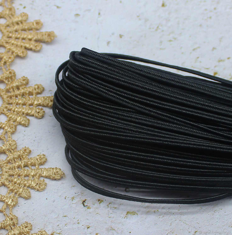 Сутаж белорусский 2,5 мм Темно-серый 1 метр, Шнуры, Соликамск,  Фото №1