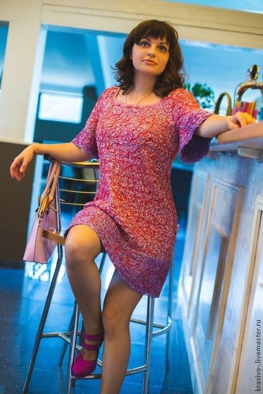 """Платья ручной работы. Ярмарка Мастеров - ручная работа. Купить Платье """"Сиреневые узоры"""". Handmade. Сиреневый, Платье нарядное"""