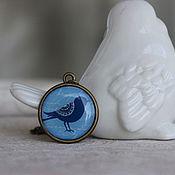 """Украшения ручной работы. Ярмарка Мастеров - ручная работа Кулон """"Синяя птица"""". Handmade."""