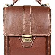 Сумки и аксессуары handmade. Livemaster - original item Leather tablet 203 brown. Handmade.