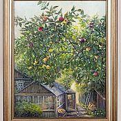"""Картины ручной работы. Ярмарка Мастеров - ручная работа Картина маслом """"Яблоневый сад"""". Handmade."""